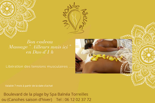 Bon cadeau Massage en Duo