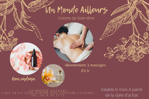 Abonnement 3 massages d'1h
